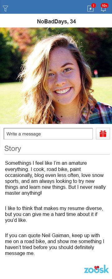 Another Great Online Dating Profile Example Written by a Woman