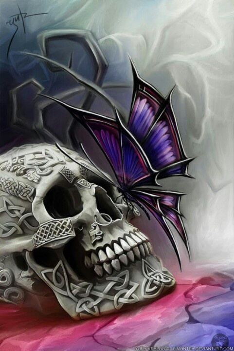 love the butterfly-the skull, not so much.