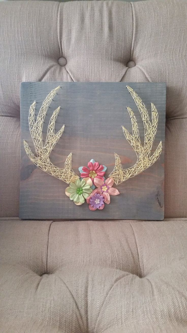 String art antlers by TrashyAshleys on Etsy https://www.etsy.com/listing/229618221/string-art-antlers