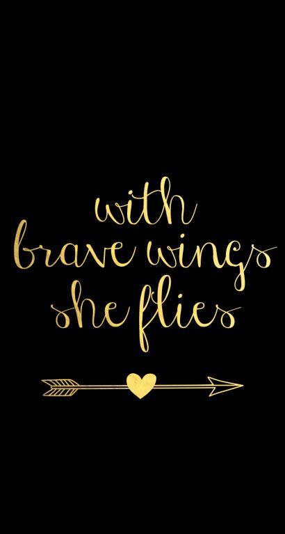 Black gold brave wings arrow iphone phone wallpaper background lock screen
