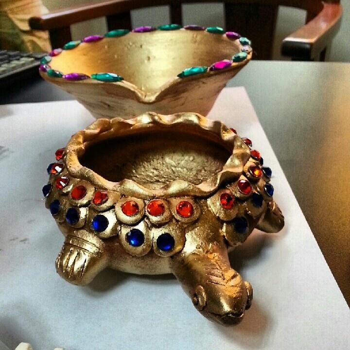 Diwali diyas or Feng Shui Turtles!