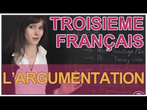 Expression écrite : l'argumentation - Français 3e - Les Bons Profs - YouTube