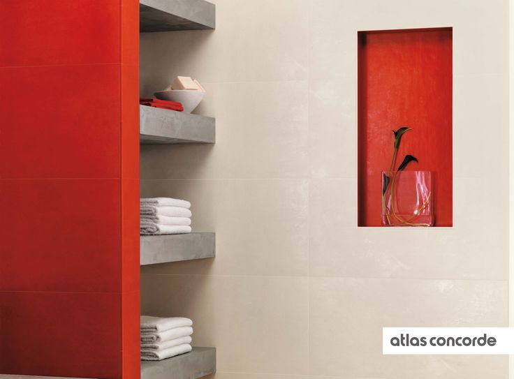 #EWALL red and pure | #AtlasConcorde | #Tiles | #Ceramic