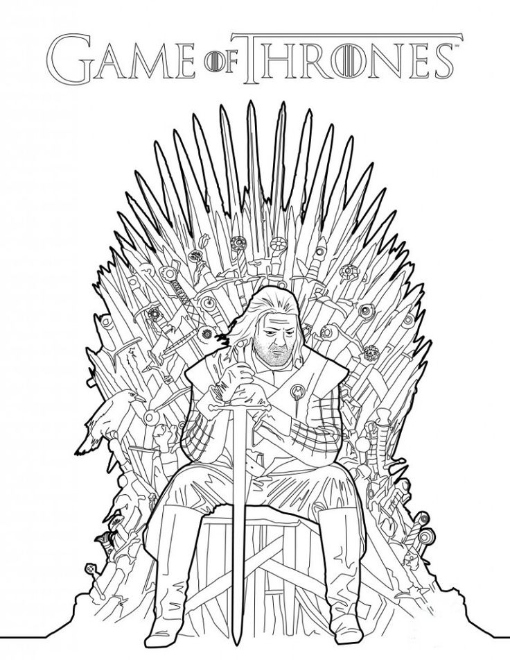 New Coloring Book Games Images About Game Of Thrones On Ned