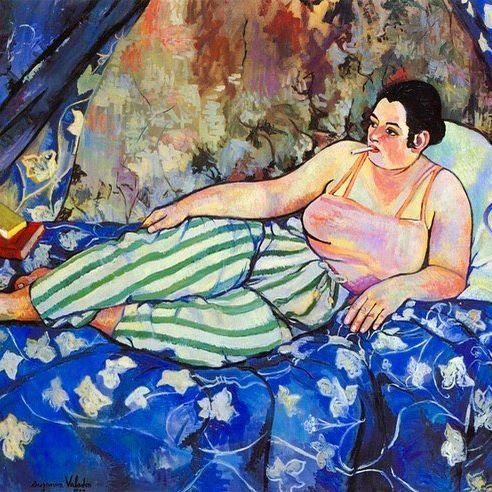 Suzanne Valadon, <The Blue Room>, 1923  #SuzanneValadon #smoking #cigarette #tobacco #painter #画家 #Maler #художник #peintre #pintor #Painting #Malerei #Pintura #Картина #ペインティング #그림 #繪畫 #Peinture #artist #Künstler #artista #アーティスト #artiste #OilPainting #미술 #canvas #toile #Beauxarts #FineArt #Art