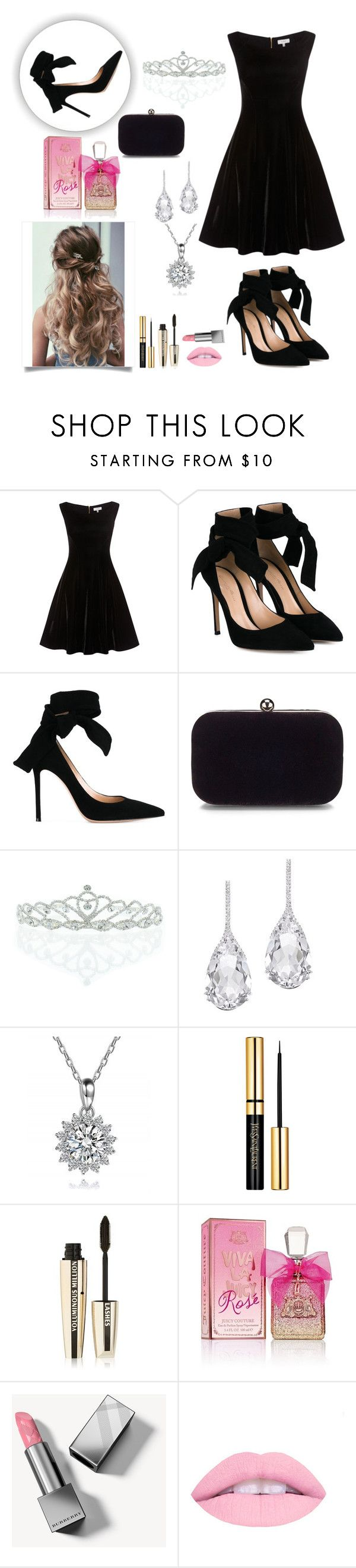 """""""Emma and Tyler <3 (RTD)"""" by iz-so-kray-kray ❤ liked on Polyvore featuring Gianvito Rossi, Kate Marie, Plukka, L'Oréal Paris, Juicy Couture, Burberry and bedroom"""