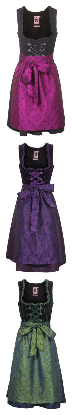"""Dirndl"" by chiara-mantovani ❤ liked on Polyvore featuring dresses, purple dress, short dresses, embellished dresses, short corset dresses, embroidered dress, short purple dresses, purple corset dress, purple cocktail dress and satin corset"