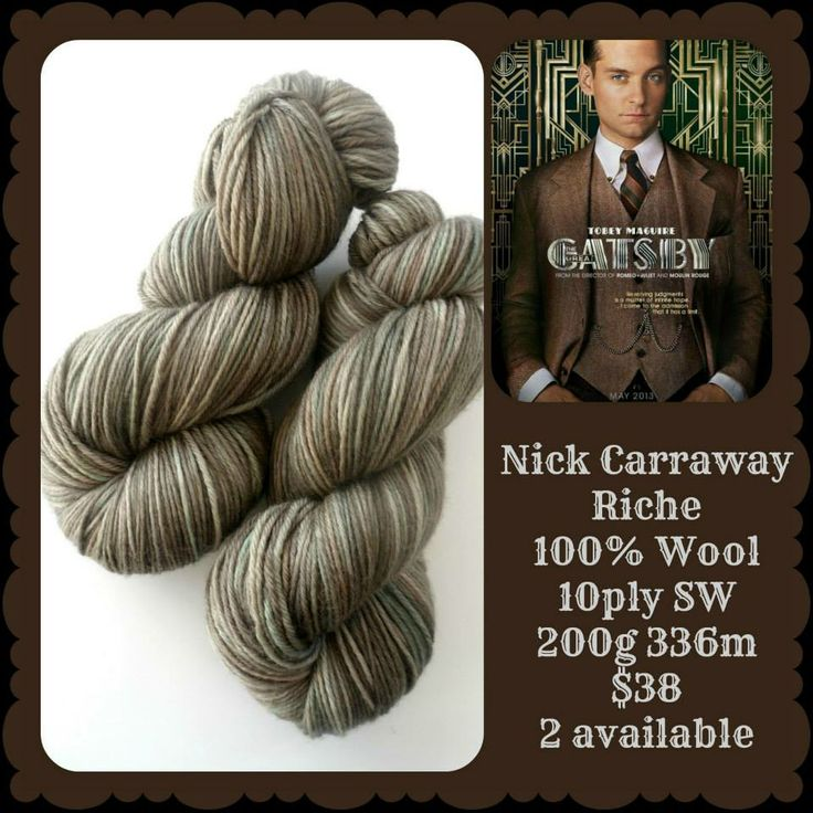 Nick Carraway - The Great Gatsby | Red Riding Hood Yarns
