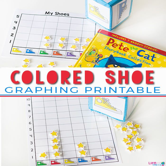 This fun graphing activity goes perfectly with Pete the Cat: I Love My White Shoes!