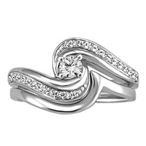 14KT White gold 0.25 ctw Glacier Ice Canadian diamond engagement ring. Engagement ring only, wedding band NOT included. RIN-LCA-2891