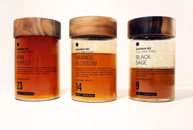 """I fell in love with the idea of repackaging honey because of the timelessness of honey production. The process employed by honey bees hasn't changed. To reference this highly industrial procedure, I chose a typographic direction that felt sterile. To counterbalance the type, I designed a few complicated and emergent patterns that hide behind the color of the honey when the bottle is full.."""