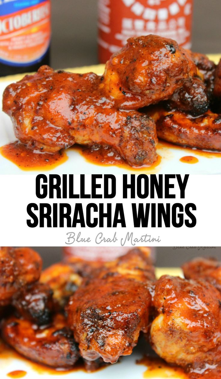 THE BEST WINGS EVER! Grilled Honey Sriracha Wings! Heat, sweet and ...