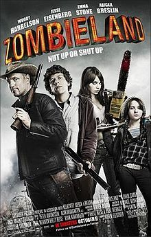 """""""There's a box of Twinkies in that grocery store. Not just any box of Twinkies, the last box of Twinkies that anyone will enjoy in the whole universe. Believe it or not, Twinkies have an expiration date. Some day very soon, Life's little Twinkie gauge is gonna go...empty."""" -Zombieland, 2009: Jesse Eisenberg, Funny Movie, Bill Murray, Comic Books, Amusement Parks, Woody Harrelson, Favorite Movie, Zombieland 2009, Emma Stones"""