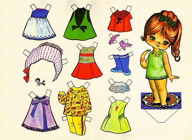 Vintage paper doll.(From the looks of the clothes it seems to be middle-late 60s)