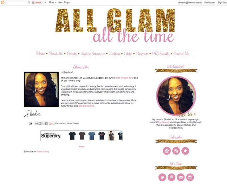 abbzzw design: blog design   all glam all the time