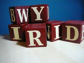 Little Birdie Secrets: seasonal word blocks