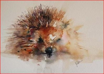 """Hedgehog"" by Jean Haines."