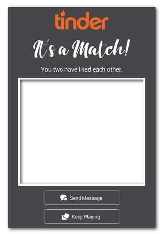 Tinder Match Photo Booth Frame Prop Australia (60 x 90 cm
