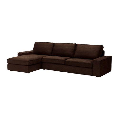 KIVIK Sofa and chaise lounge - Tullinge dark brown - IKEA