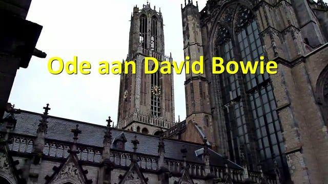 ODE AAN DAVID BOWIE op het carillon van de Domtoren.   Utrecht 16 januari 2016 Met regen( 12:30) ..... Sneeuw( 27:20 ) .... Toch nog publiek( 36:05) ....  Toch nog zon(54:40) .... Media-aandacht(1:02:20)  Setlist(Click) : 00:45 Under pressure 04:35 Let's dance 07:50 All the young Dudes 11:05 Life on Mars? 14:55 Changes 18:35 Starman 21:50 Ziggy Stardust 25:10 Tonight 28:50 Absolute beginners 33:25 This is not America 37:05 Heroes 40:55 China girl 46:10 Where are we now? 50:4...