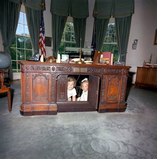 The Resolute Desk The resolute desk was a gift from Queen Victoria to President Hayes in 1879, and was made from the timbers of the British arctic exploration ship, HMS RESOLUTE. Many presidents since Hayes have used the desk at various locations in the White House, but it was Jacqueline Kennedy who first brought the desk into the Oval Office in 1961 for President Kennedy. Since then, a number of modern presidents have used the desk, including President Obama. A sister desk, also made from…