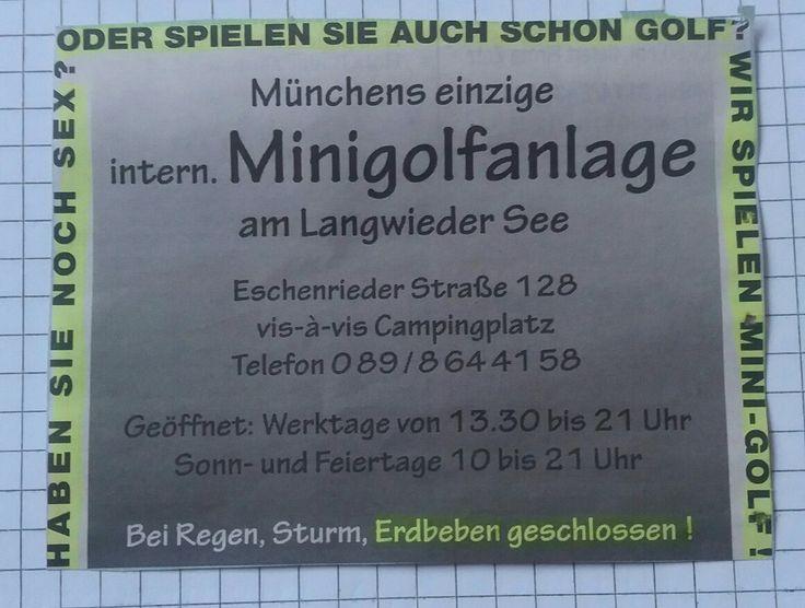 Witzige Werbung für Minigolf 😀