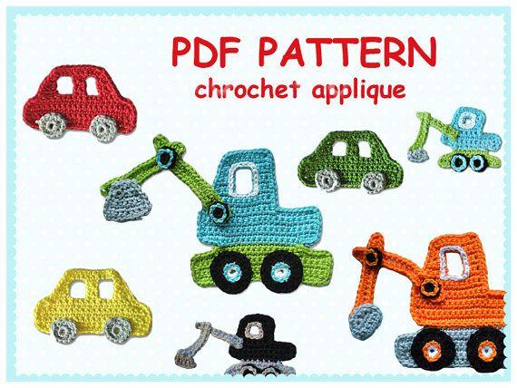 Pattern Chrochet Appliques on Etsy, ¥572.46