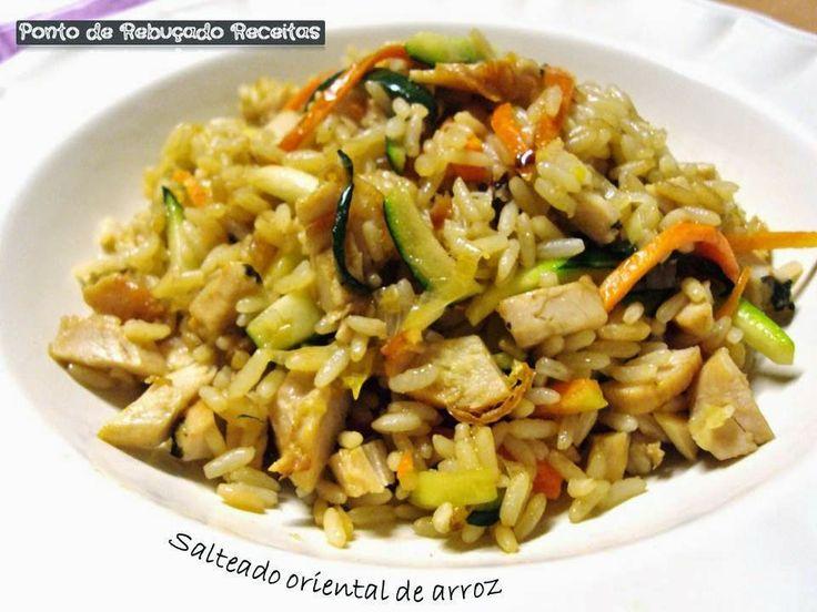 Ponto de Rebuçado Receitas: Salteado oriental de arroz