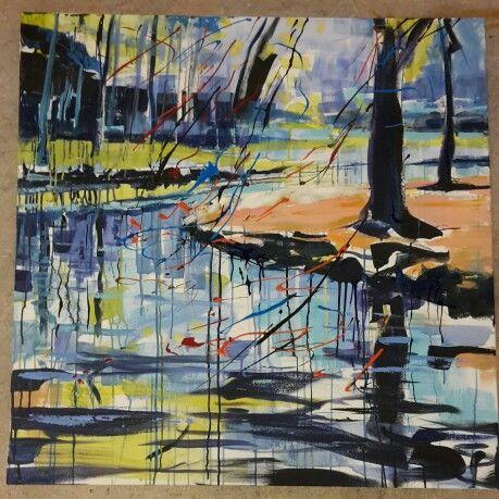 Kasteel Groeneveld Baarn.. acryl on canvas.. 1x1 mtr