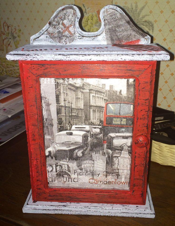 """Caja para llaves """"Vintage"""" London"""