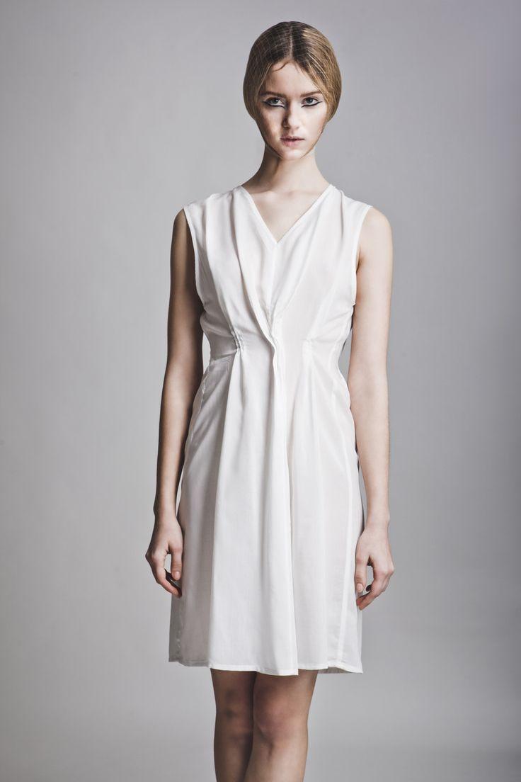 Clothes: Vassiliki Charitou SS15 Photographer: Vasilis Topouslidis Hair - Make up: Katerina Theofilopoulou  white dress