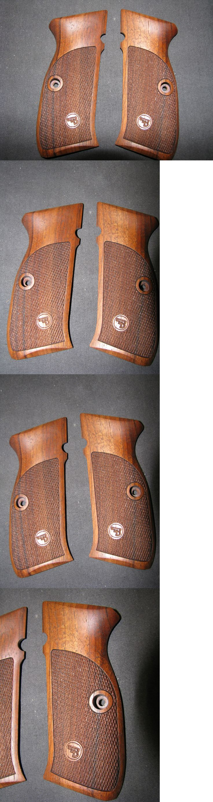 Other Hunting Accessories 52509: Cz 75 Sp-01 Shadow Only Fine English Walnut Checkered Pistol Grips W Logo Sweet! -> BUY IT NOW ONLY: $89.95 on eBay!
