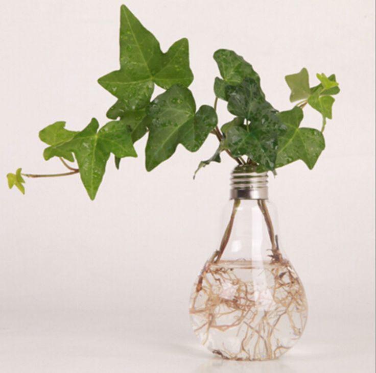 Декоративная стеклянной вазе теплый свет лампы японский дизайн искусство декора сад бар магазин свадьбы украшения дома подарки вазы для цветов