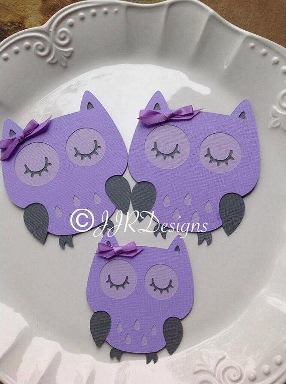 owl owl die cut purple gray by jjrdesigns purple owls lavender owls