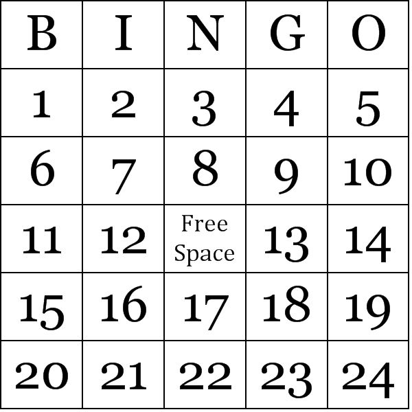 Impertinent image with free printable bingo cards 1-75
