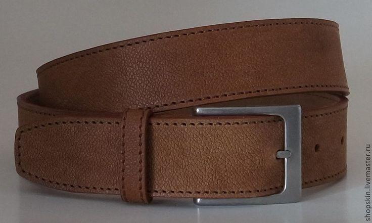Купить Кожаный ремень светло-коричневый (11) - мужской ремень, ремень мужской, мужские ремни