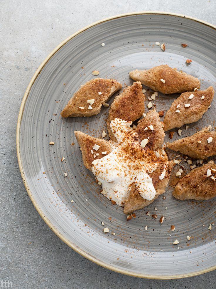 true taste hunters - kuchnia wegańska: Kluski leniwe z kaszą jaglaną ze śmietaną kokosową i cynamonem (wegańskie, bezglutenowe, bez cukru)