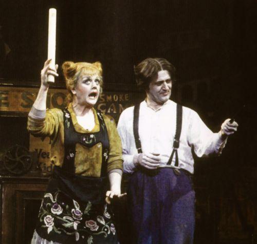 "Lansbury as the original Mrs. Lovett in ""Sweeney Todd, the Demon Barber of Fleet Street"""