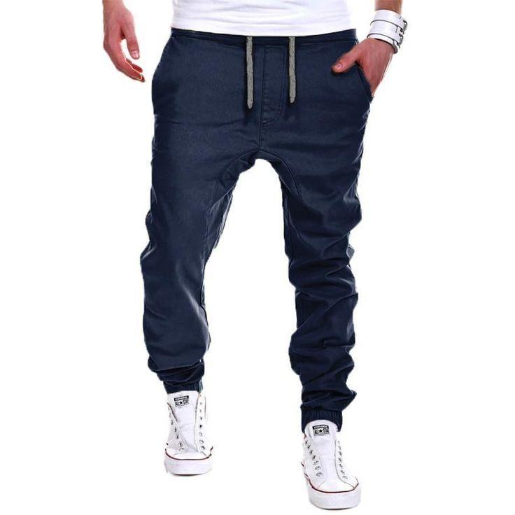 Mens Sweatpants, Loose Sweatpants Mens Jogger Pants-Men's Pants-Mens Joggers-Mens Sweatpants-Mens Jogger Pants-Mens Pants-Black-L-LeStyleParfait.Com