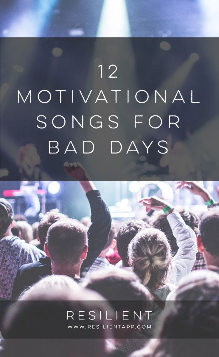When bad days happen, it's nice to have some inspirational or motivational songs to lift your spirits and make you feel better. Here are 12 motivational songs for bad days. #motivationalsongs #depressionsongs #inspirationalsongs #upliftingsongs