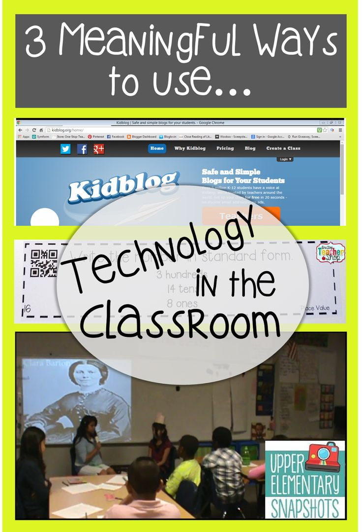 3 Meaningful Ways to Use Technology in the Classroom!
