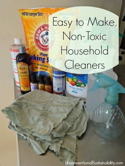 Easy to Make, Non-Toxic Household Cleaners - better for our health and less expensive than traditional cleaning products