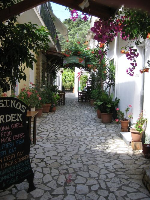 Lovely alley on Paxos island, Greece | http://www.fougarostravel.com/el.html