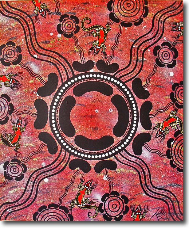 Ceremonial Ground - Acrylic Painting by Aleshia Lonsdale, Wiriadjuri / Tirikee Australian Artist - Art for Sale Online