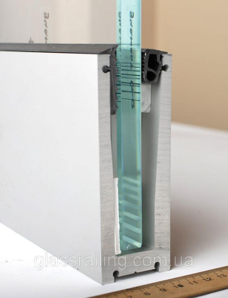 GLASSRAILING Aluminiumsystem für Glaszäune