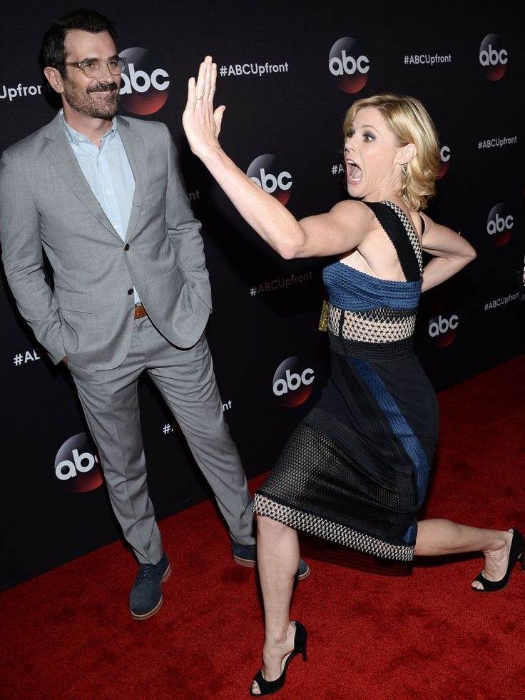 "Just in case there are any concerns about ""Modern Family,"" Julie Bowen is ready to address them. TV husband Ty Burrell stands by.  Evan Agostini, Invision/AP"