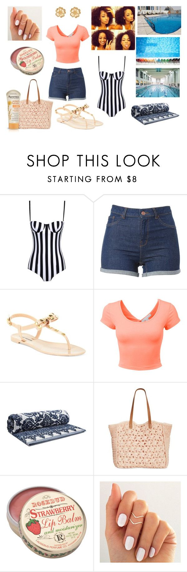 """""""Pool Outfit =)"""" by nubiansuprise ❤ liked on Polyvore featuring Dolce&Gabbana, Chinese Laundry, LE3NO, Tory Burch, Straw Studios, Aveeno and Bling Jewelry"""