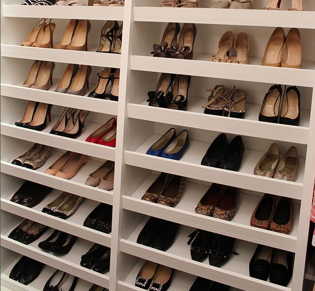 Built In Shoe Rack For #Closets