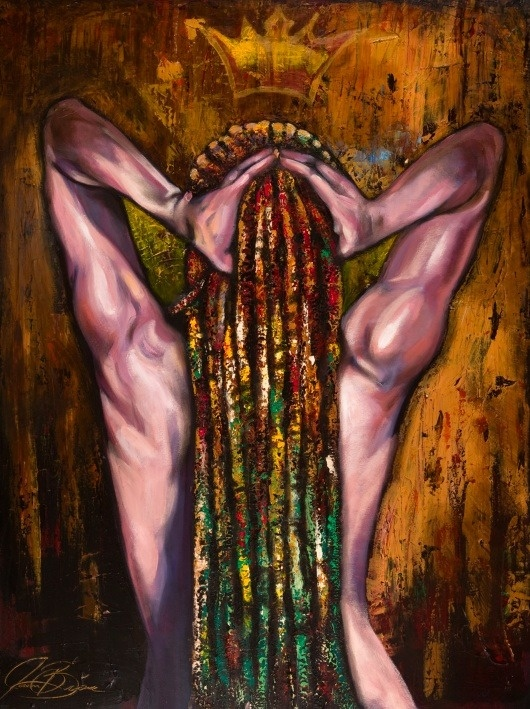 "Image of Majesty (Original Canvas)  $2,800.00    """"Majesty"" celebrates the sensual strength and reassurance that emanates from a woman who knows in her heart that she is a Queen."""