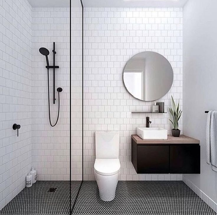 Bathroom black   whiteBest 25  White shower ideas only on Pinterest   White subway tile  . Black And White Bathrooms Images. Home Design Ideas